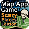 The Map App Game - Scary Places Edition by 288 Vroom - Cool iPhone, iPod Touch, and iPad Apps, Games, Books, Great Reads
