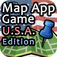 The Map App Game - U.S.A. Edition by 288 Vroom - Cool iPhone, iPod Touch, and iPad Apps, Games, Books, Great Reads