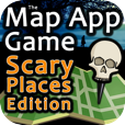 The Map App Game - Scary Places Edition on iPhone, iPod Touch, and iPad by 288 Vroom