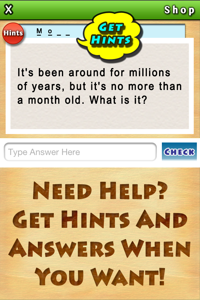 Get Hints Need Help? Reveal letters or show the number of letters to help you along the way.