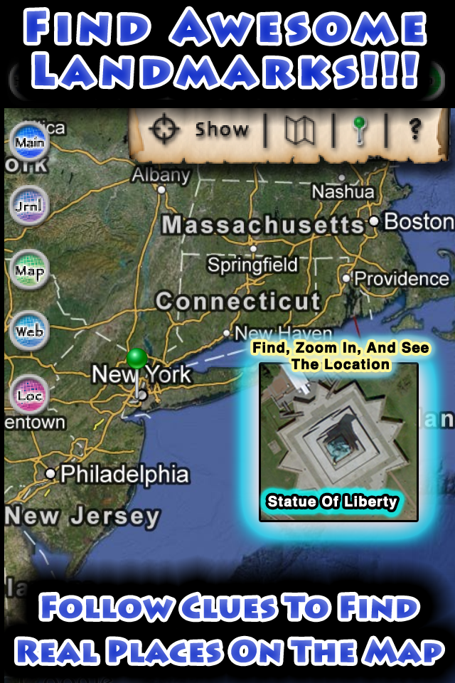 Find Awesome Landmarks Follow Clues To Find Real Places On The Map